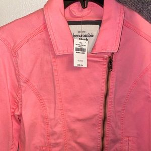 Neon Pink denim jacket